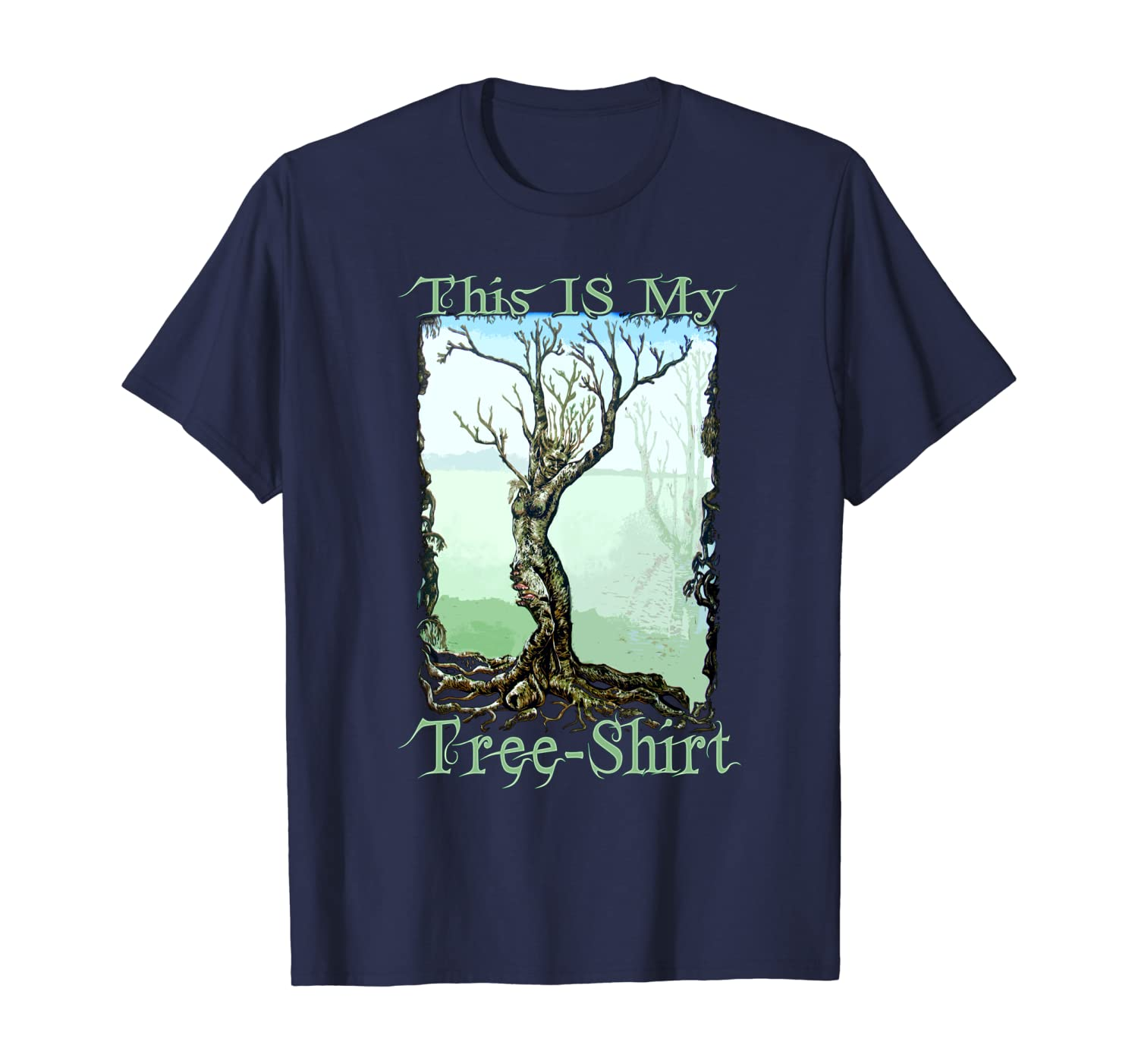 Dryad Tree Enviornmental Funny Earth Day Nature Fairy Shirt