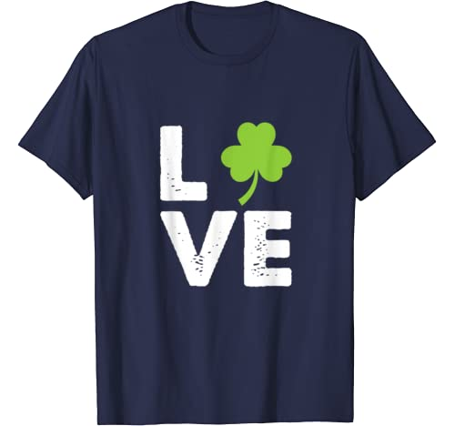 St. Patrick's Day I Love Irish Clover For St Pattys Day T Shirt