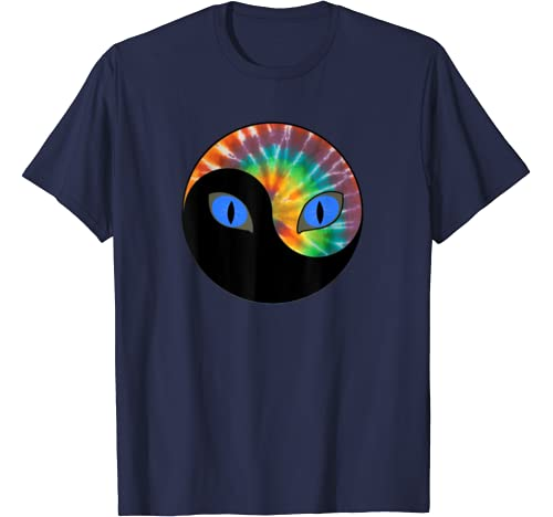 Tie Dye Cat | Yinyang Cats Eyes Kitty Lovers Gifts Tee T Shirt