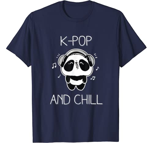 South Korea Inspired K-Pop and Chill Panda Music T-Shirt