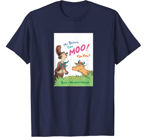 Dr. Seuss Mr. Brown Can Moo Book Cover T Shirt