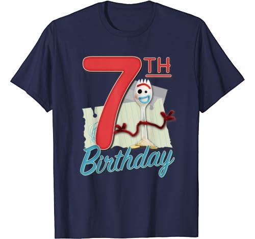 Disney Pixar Toy Story 4 Forky 7th Birthday T Shirt