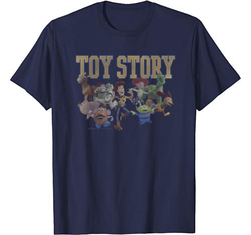 Disney Pixar Toy Story Group Shot Run T Shirt