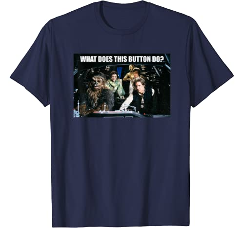 Star Wars What Does This Button Do T Shirt