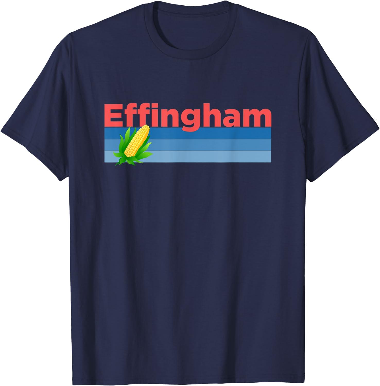 Retro Corn & Farming - Effingham, Illinois T-Shirt