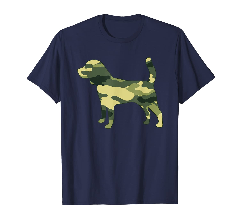 Military Beagle Camo Men Print US Puppy Dog Pet Veteran Gift T-Shirt-ANZ