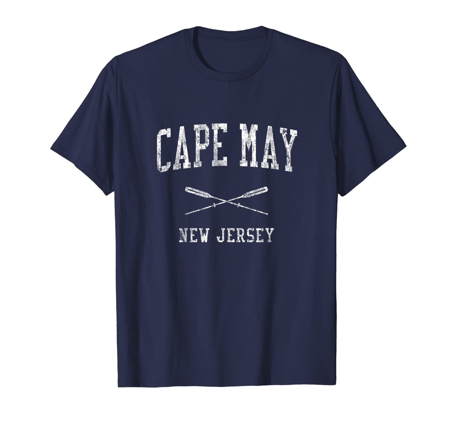 Cape May New Jersey NJ Vintage Nautical Sports Design Tee