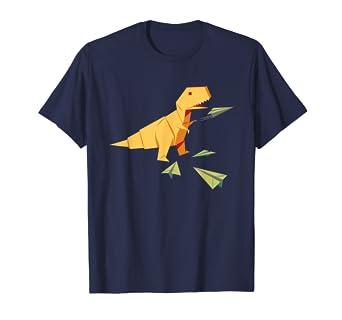 Amazon.com: Origami T-Rex Dinosaur - Camiseta de papel ...