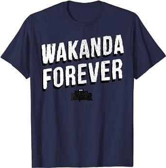 Marvel Black Panther Wakanda Forever Vintage T-Shirt