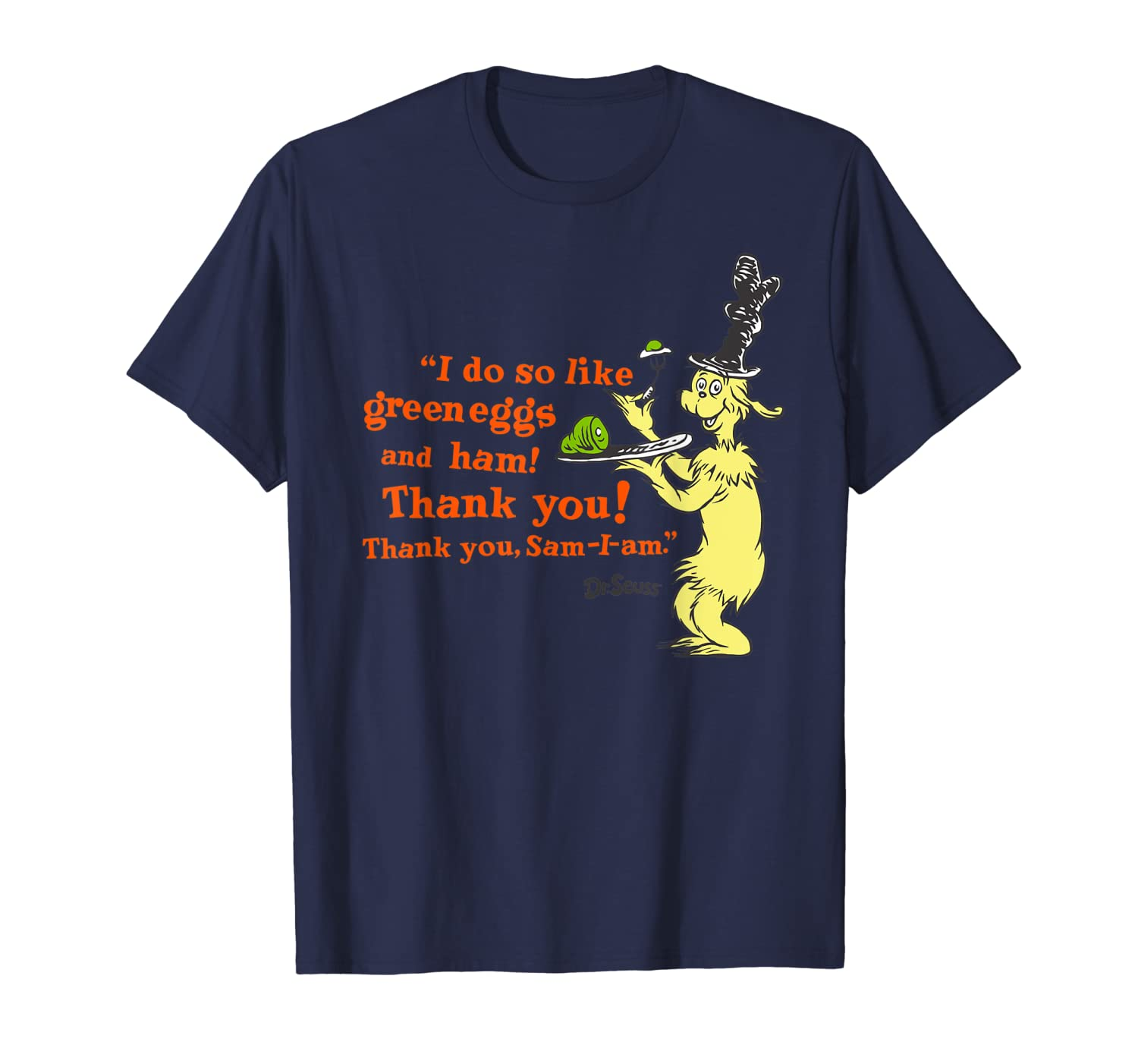 """Dr. Seuss Green Eggs and Ham """"I Do So Like"""" quote T-Shirt"""