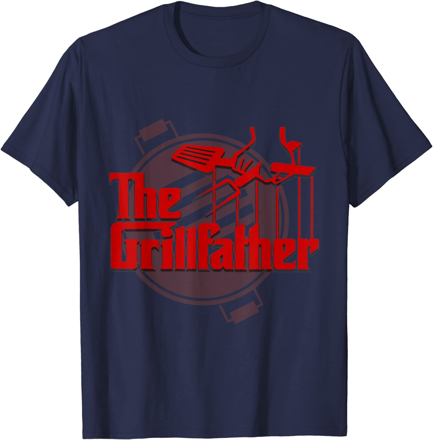 The Grill Father T-Shirt funny cooking chef bbq gift cook Mens