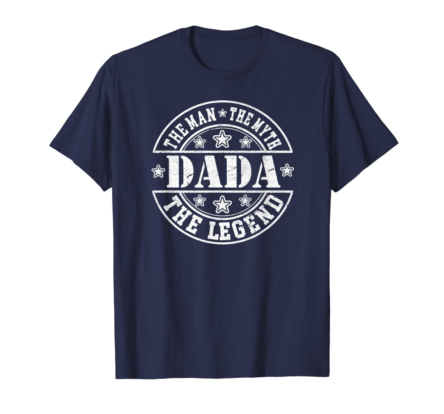 Mens DADA The Man The Myth The Legend T Shirt For Grandfathers-Yolotee