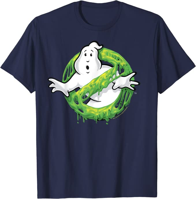 ghostbusters ghost logo green slime maglietta 18sygh00008a-001