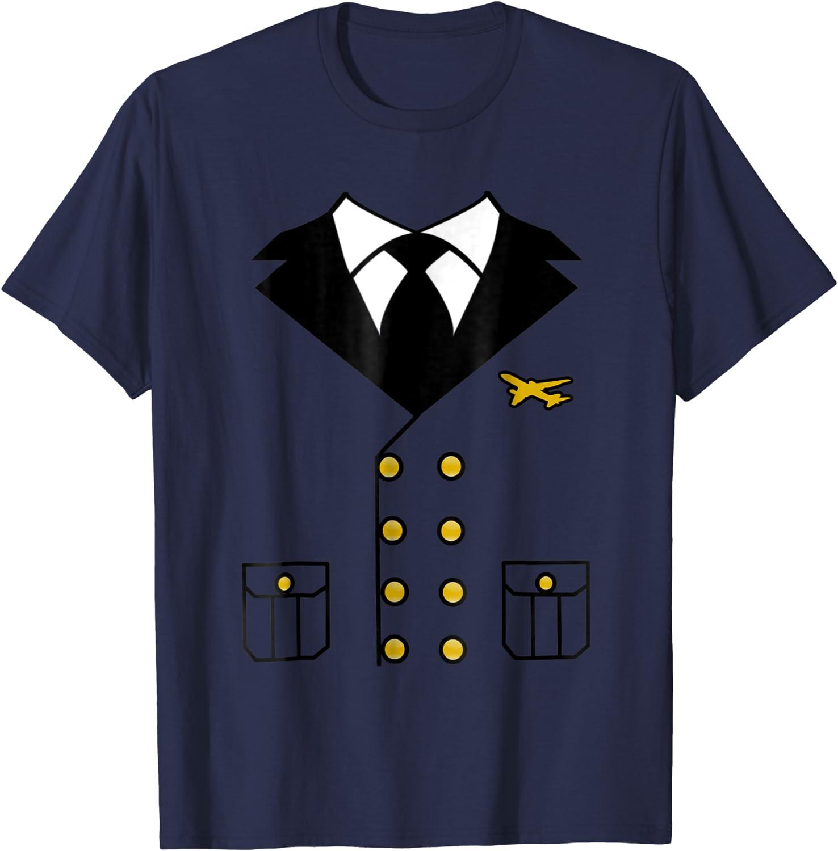 Pilot Costume 3Pc Black Poly Double Breasted Coat//Shirt Pants /& Hat Costume Plus