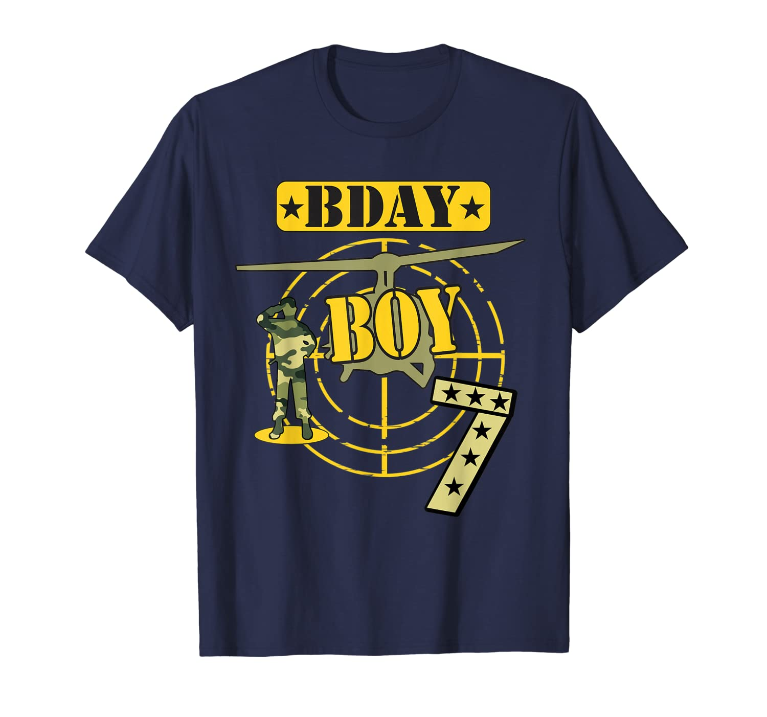 7th Birthday Boy Camouflage-Seven years old Shirt Army Kids--ANZ
