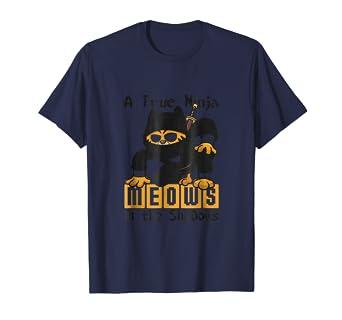 Amazon.com: Cats Cat Kitty Ninja Meows In The Shadows Shirt ...