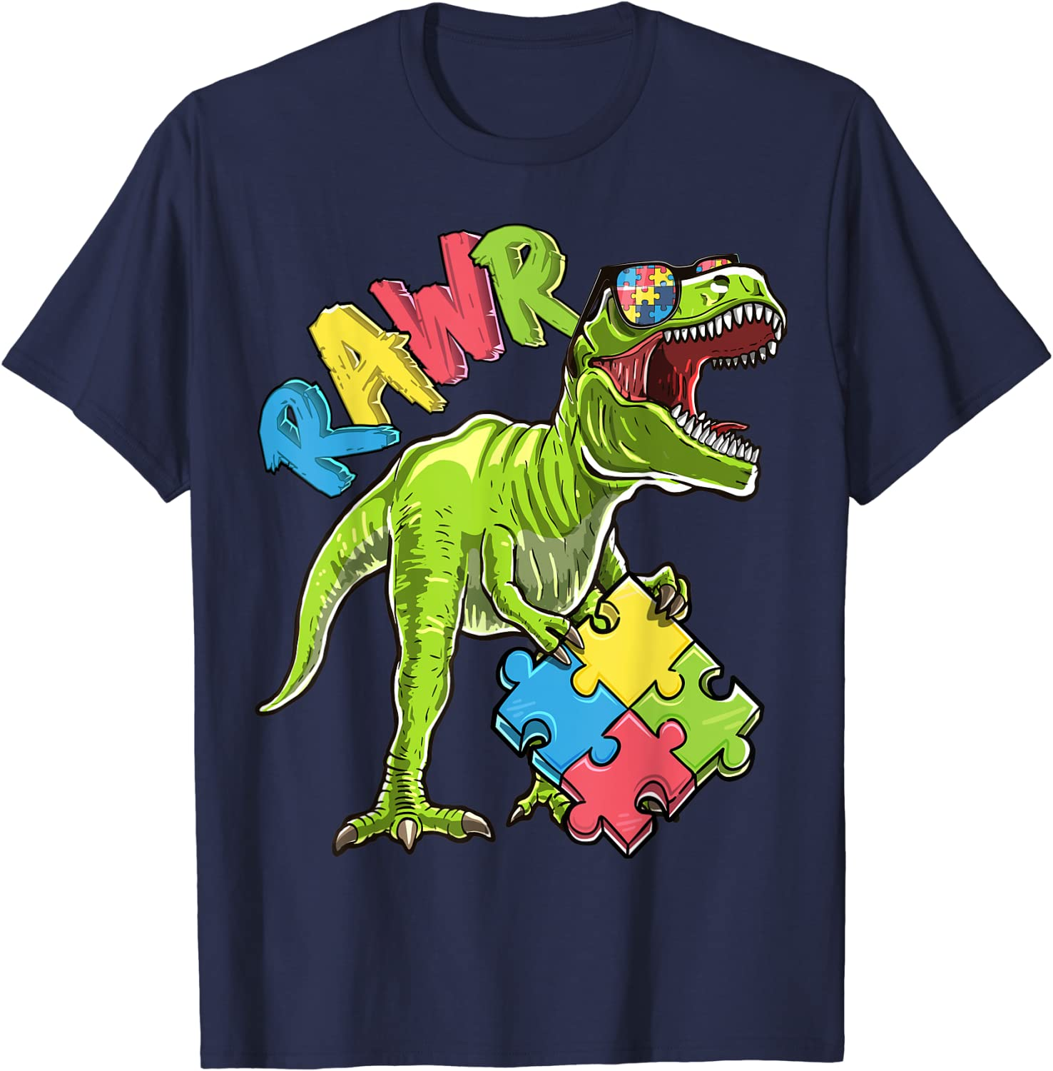 I See Your Colors Autism Dinosaur That/'s Why I Love You Gift Top Autism T-shirt