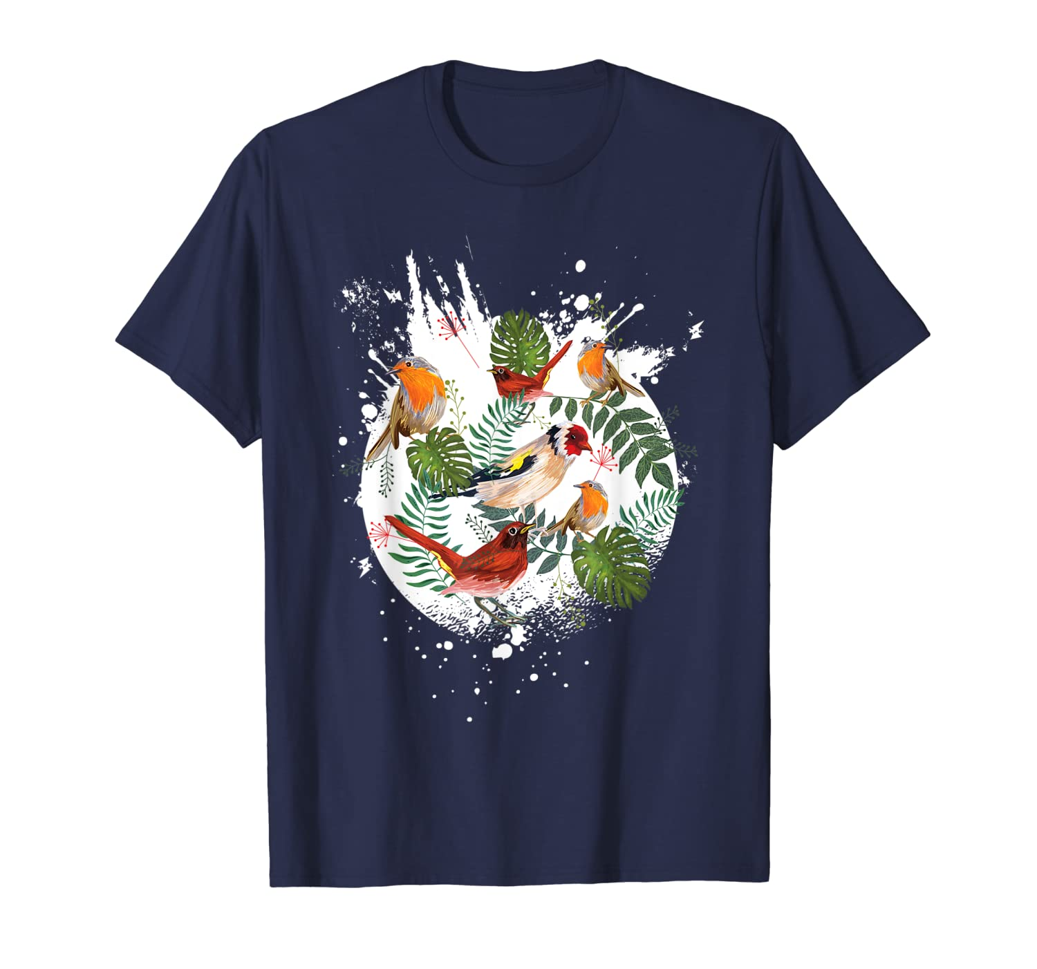 Birds on a branch in the middle of nature. T-Shirt-ANZ