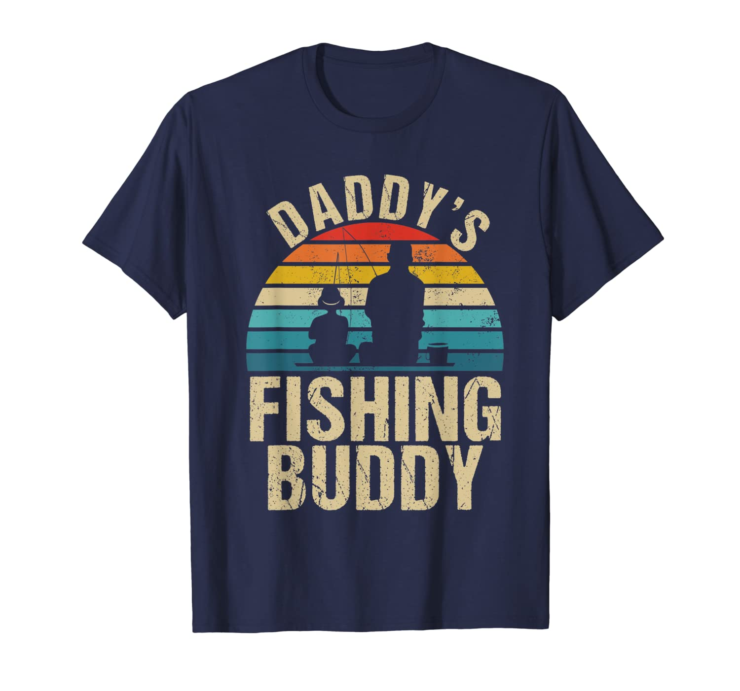 Vintage Daddy's Fishing Buddy Shirt for Boys Toddler Kids-ANZ
