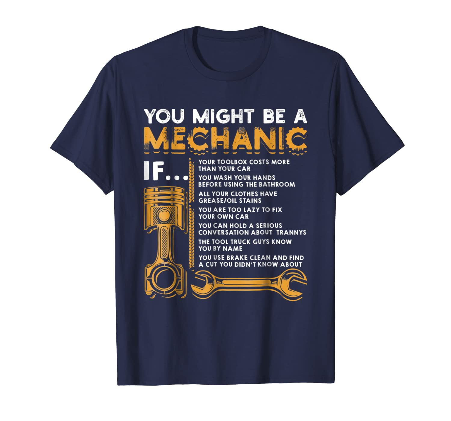 You Might Be A Mechanic If T-Shirt Funny Mechanic Gifts-TH