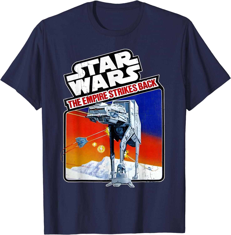Star Wars Empire Strikes Back Vintage AT-AT Sticker T-Shirt