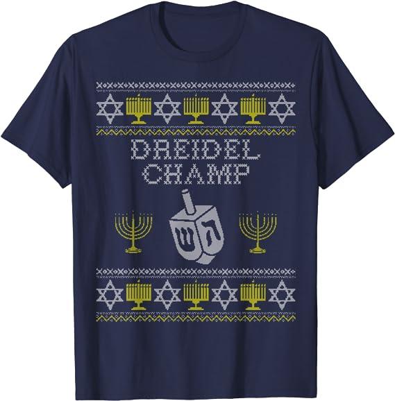 Boys Dreidel Champion Hanukkah Outfit Shirt Shorts Infant Toddler Kids Clothes