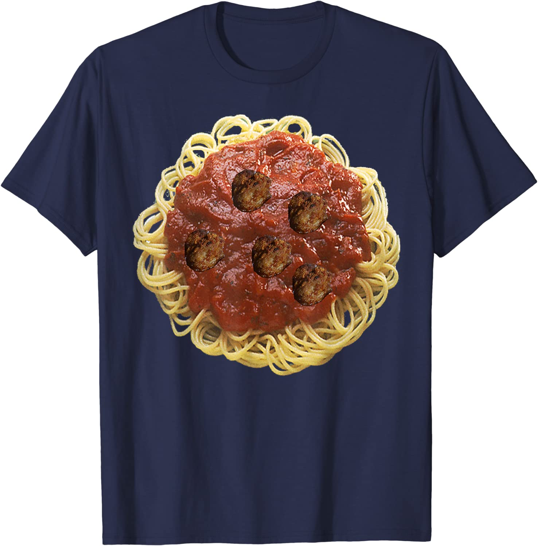 Spaghetti & Meatballs Easy Funny Halloween Food Costume T-Shirt