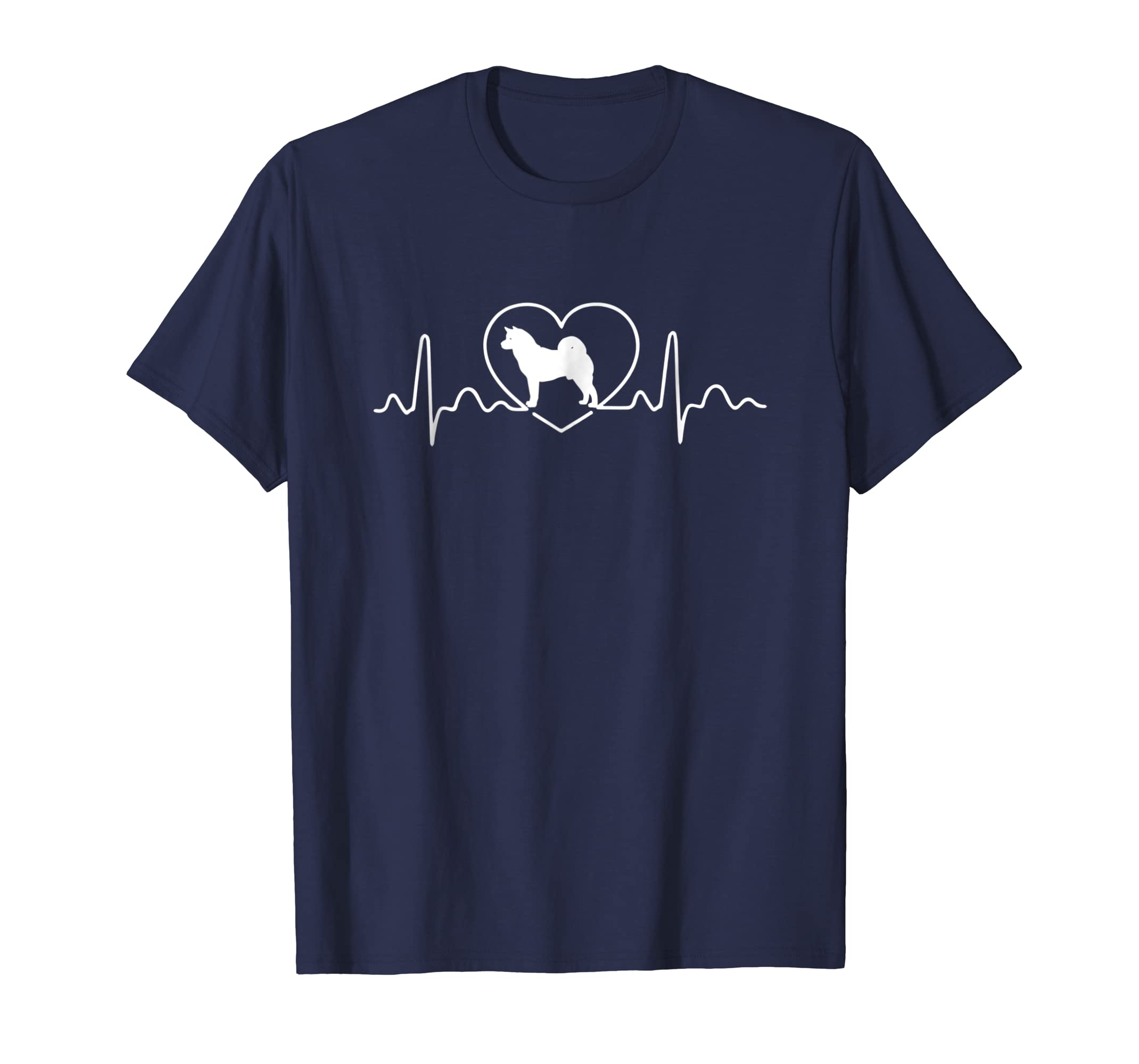 Akita Heartbeat I Love My Akita dog Funny Tee for Dog Lover-AZP