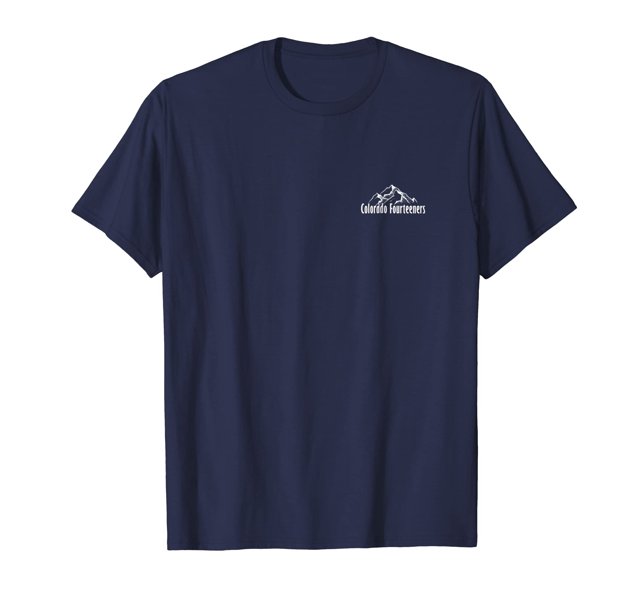Amazon.com  Colorado Fourteeners 2 Sided Checklist T-Shirt 14ers Tee   Clothing 4803c74766