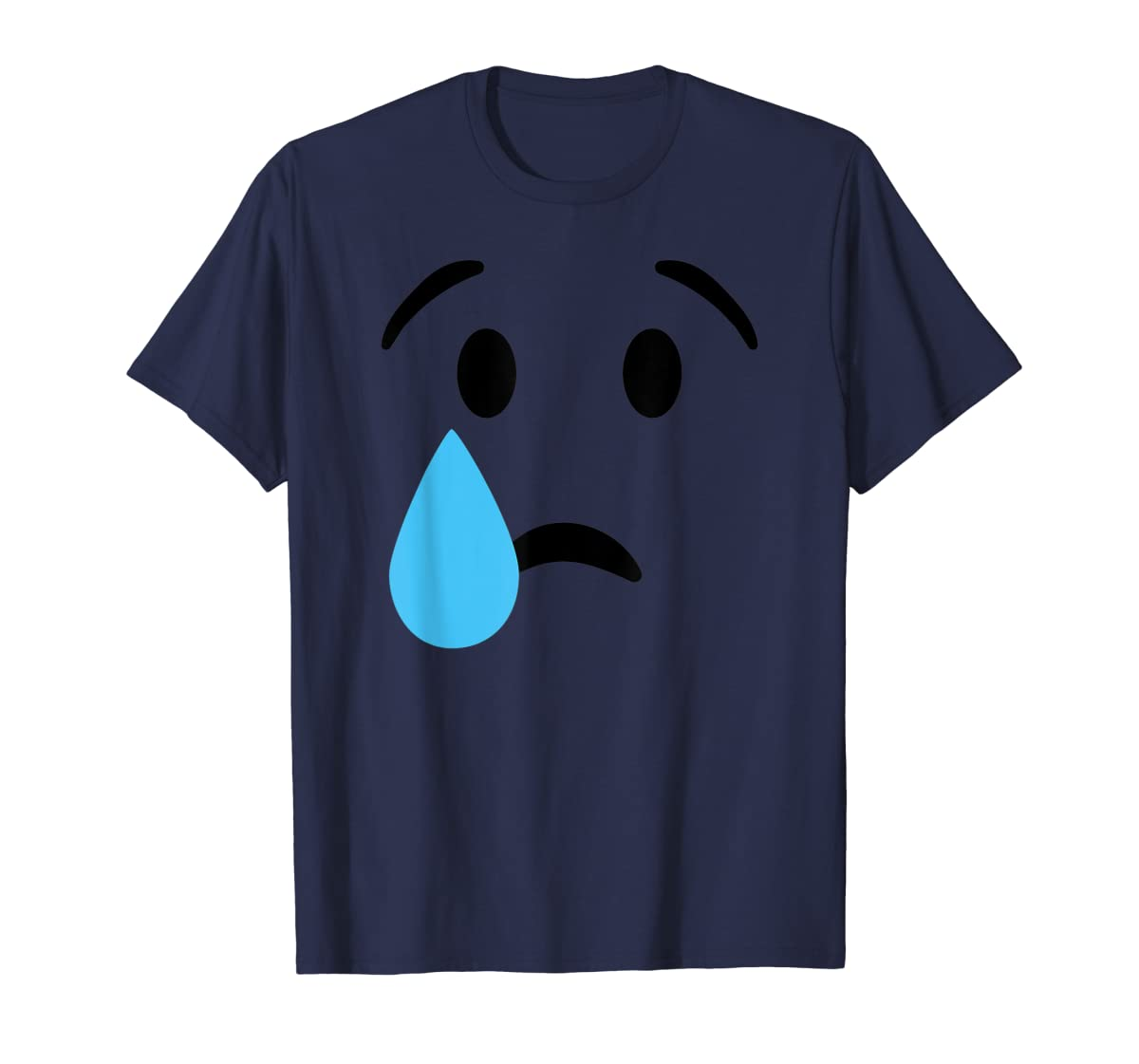 Sad Crying Tear Eyes Face Emojis Emoticon Halloween Costume T-Shirt-Men's T-Shirt-Navy
