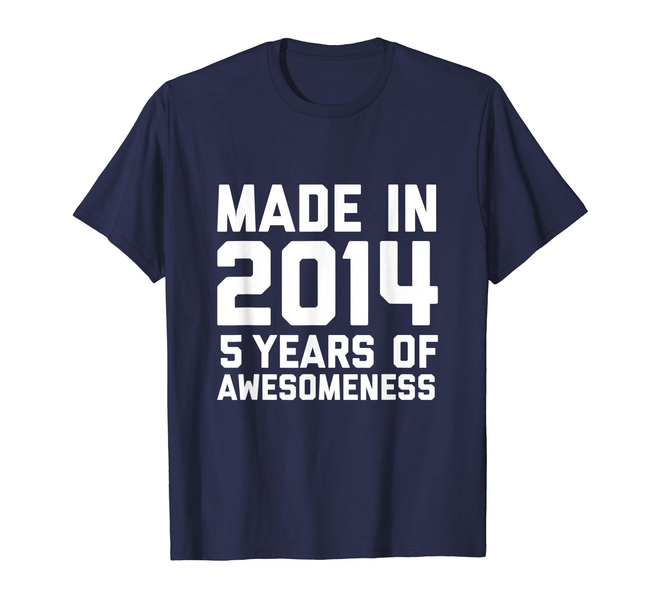 Amazon 5th Birthday Shirt Girls Boys 5 Year Old Son Daughter Gift Clothing