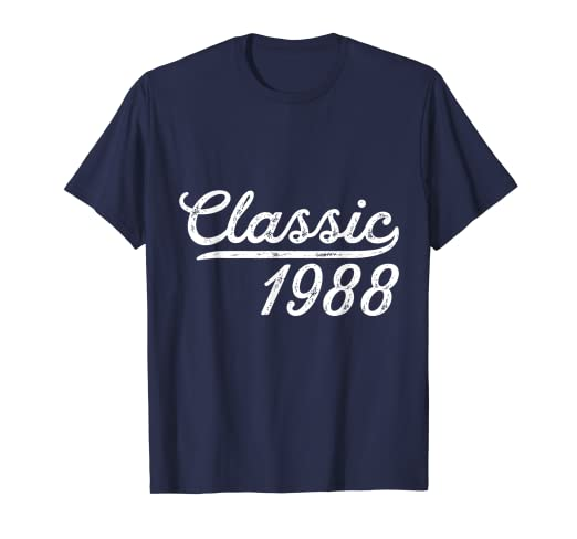 Amazon Classic 1988 30th Birthday Idea Gift Shirt For Him Or