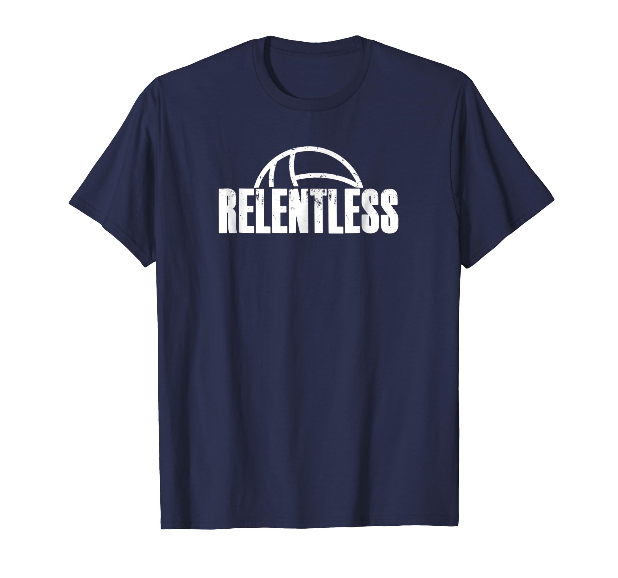 Volleyball Player T Shirt RELENTLESS Tee Fun Coach Team Gift-azvn