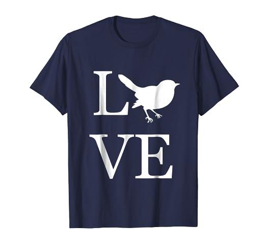 6dfa5dd4a Amazon.com: Love Bird Shirt, I Love Birds T-Shirt Graphic Tee: Clothing