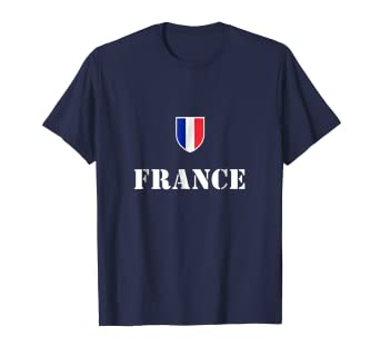 super popular 72f8f 05bc9 Amazon.com: France Soccer T-Shirt French Football Tee Shirt ...