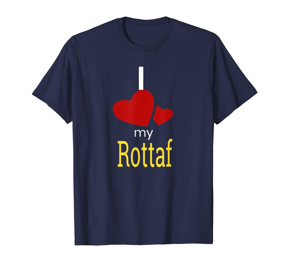 Rottaf Dog Shirt Love Rottweiler + Afghan Hound =  T-Shirt-Men's T-Shirt-Navy