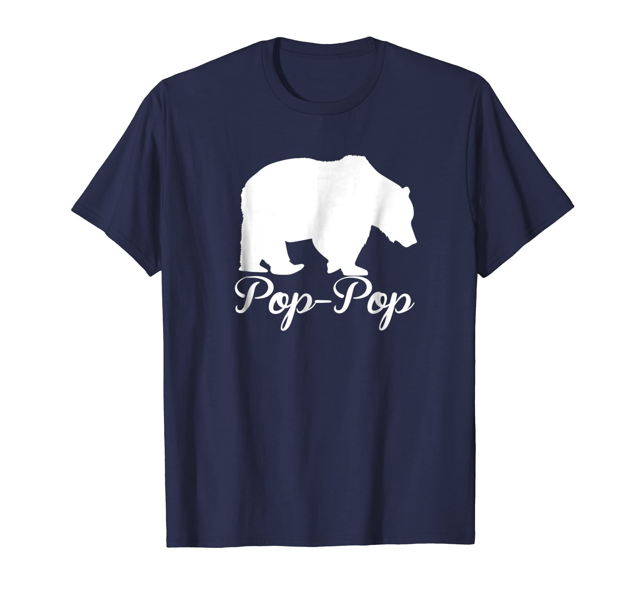 Men's Pop-Pop Bear Shirt Outdoors Family Tee for Dad Grandpa-AZP