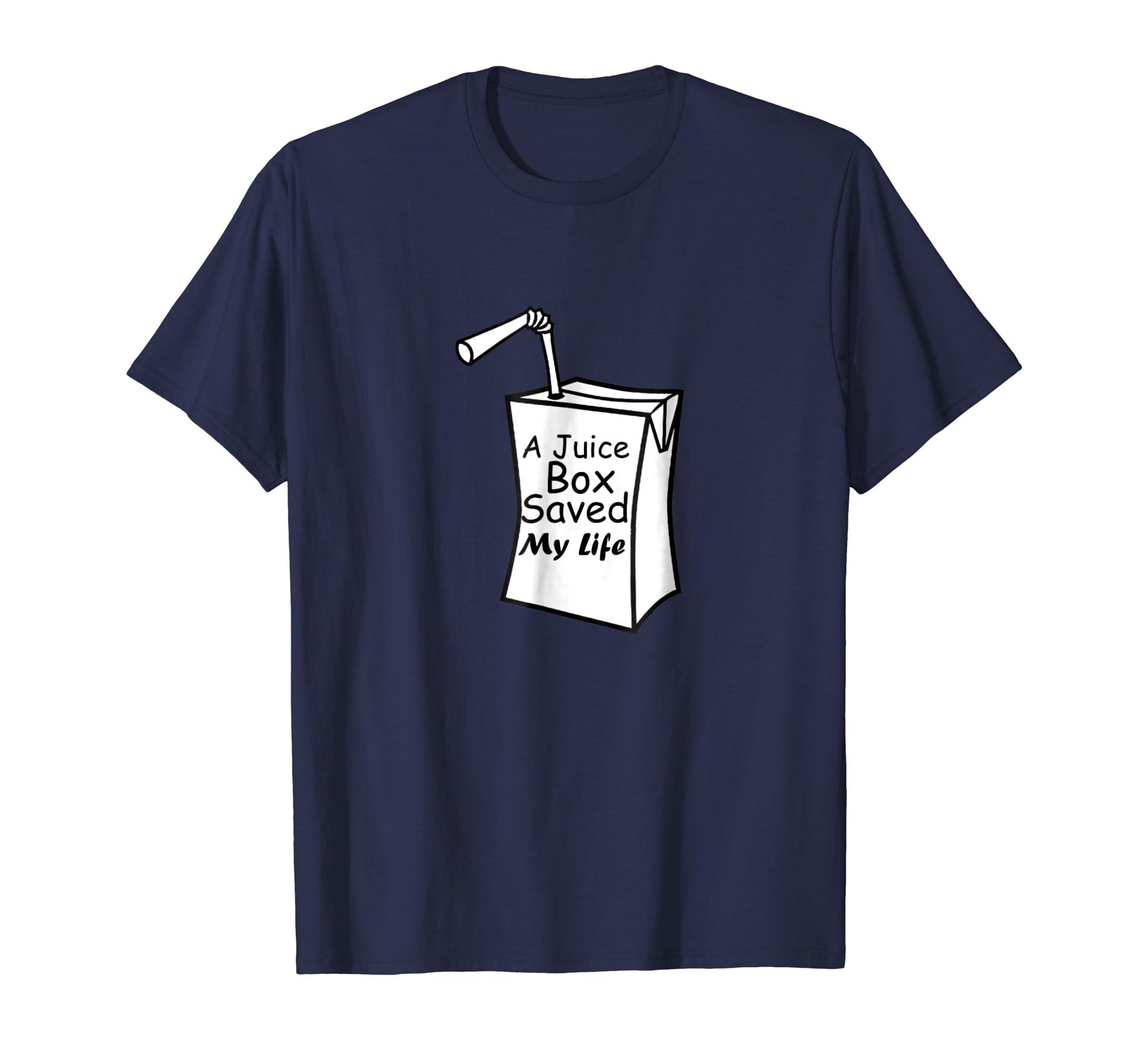 Juice Box Saved My Life T shirt Type 1 Diabetes-azvn