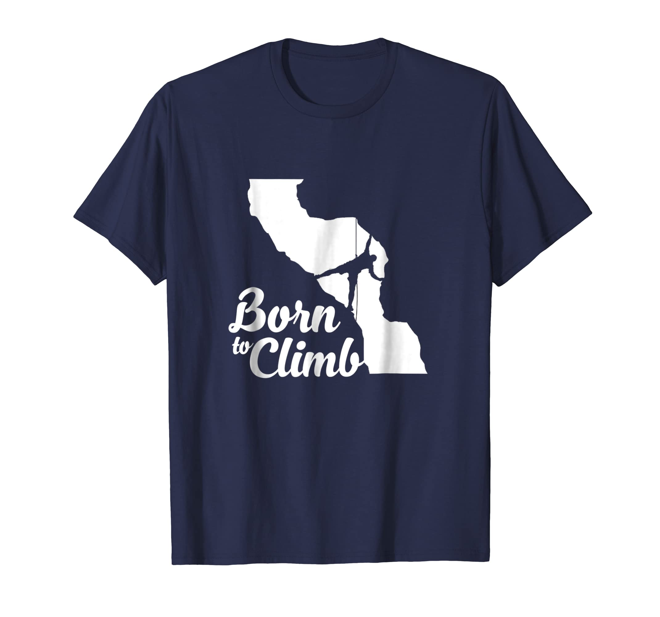 BORN TO CLIMB Climbing T Shirt-Teesml