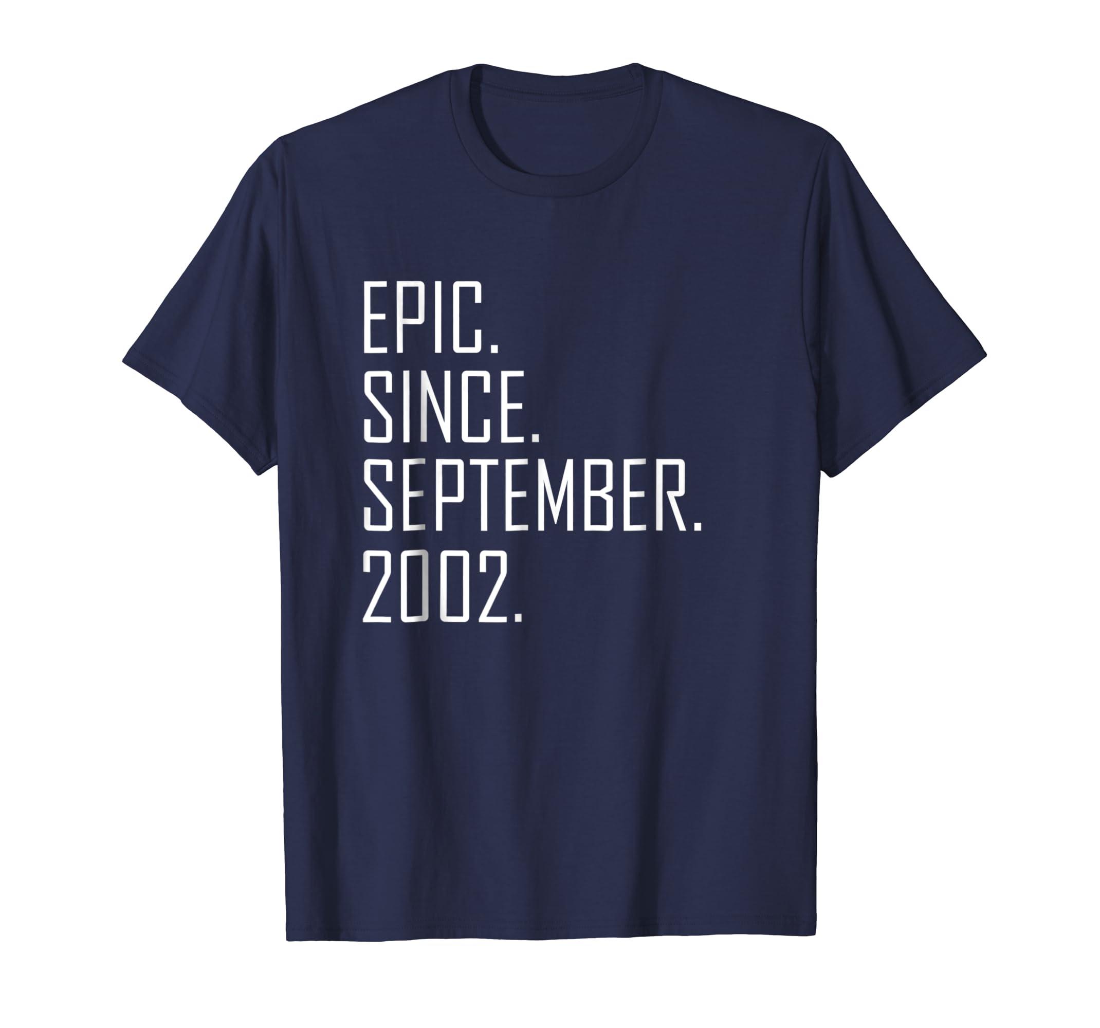 16 Year Old Gift T Shirt for men women Born September 2002