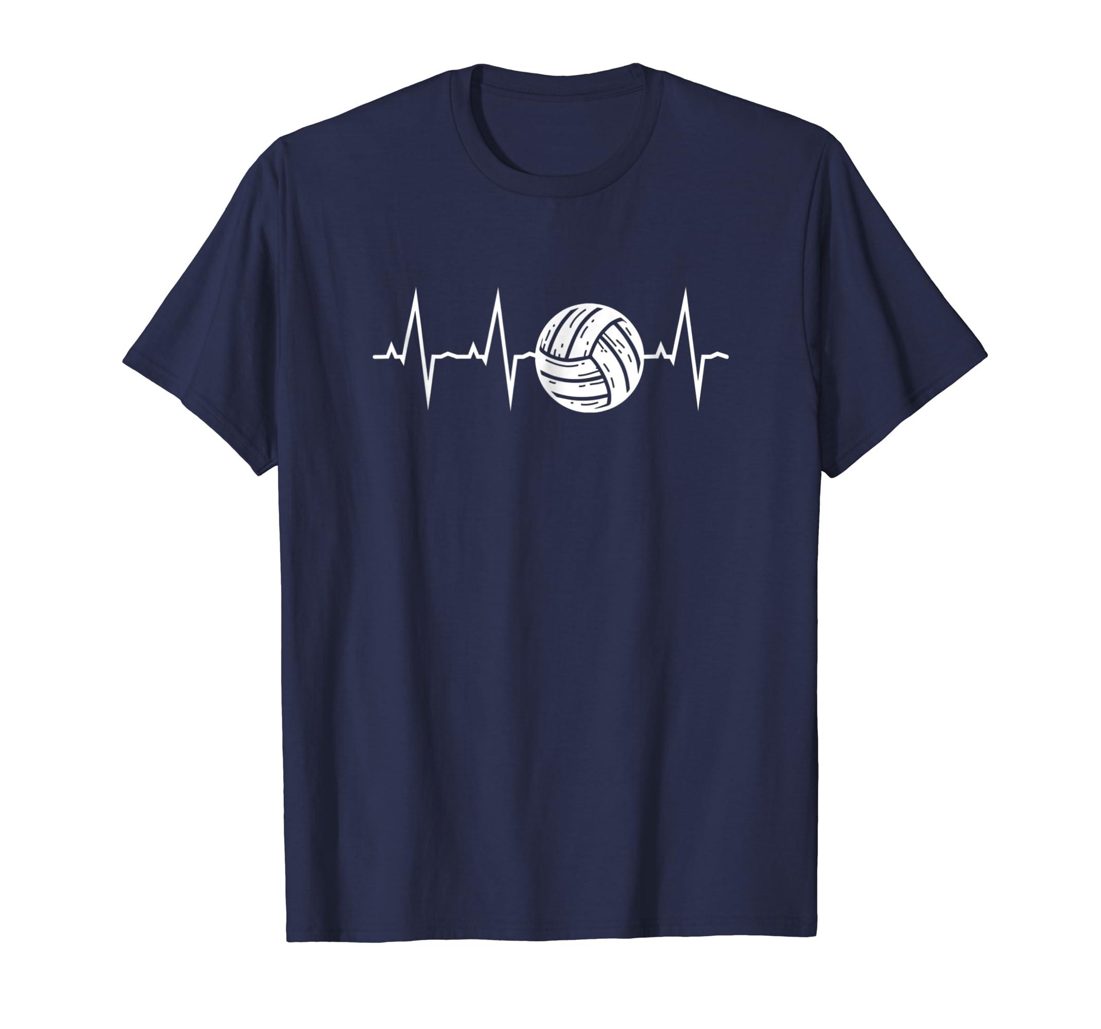 Volleyball Heartbeat Shirt Volleyball Shirts-azvn
