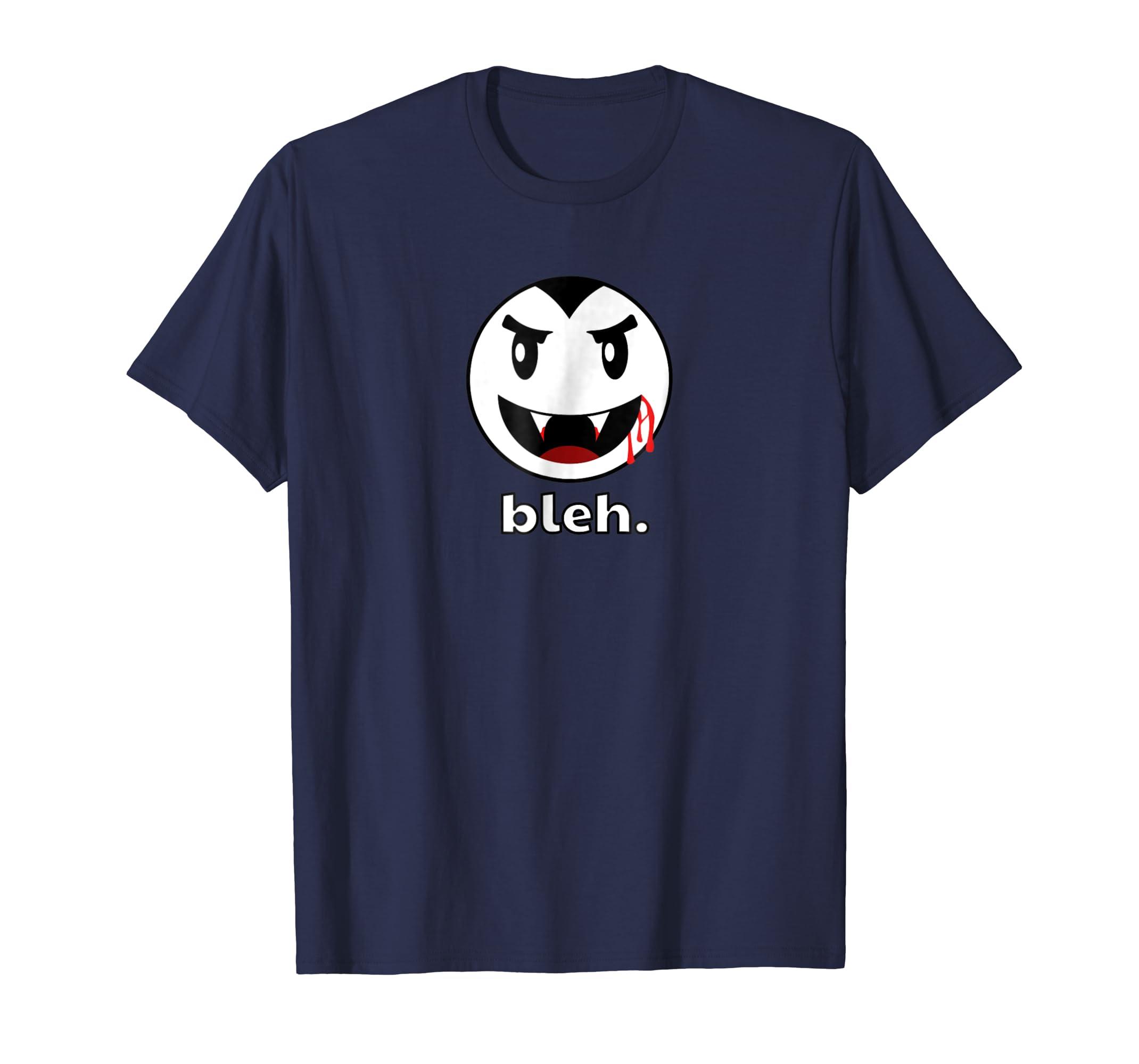 Bleh - T-Shirt - Vampire, Blah, Smiley Face-mt