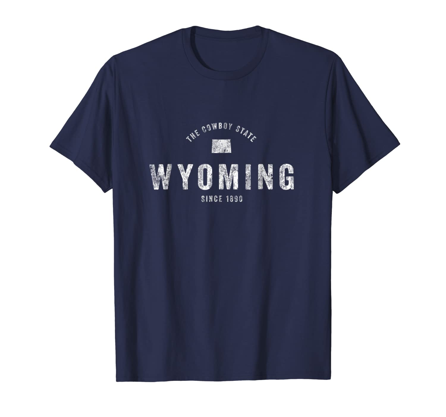Wyoming T-Shirt Vintage Sports Design Retro WY Wyo Tee