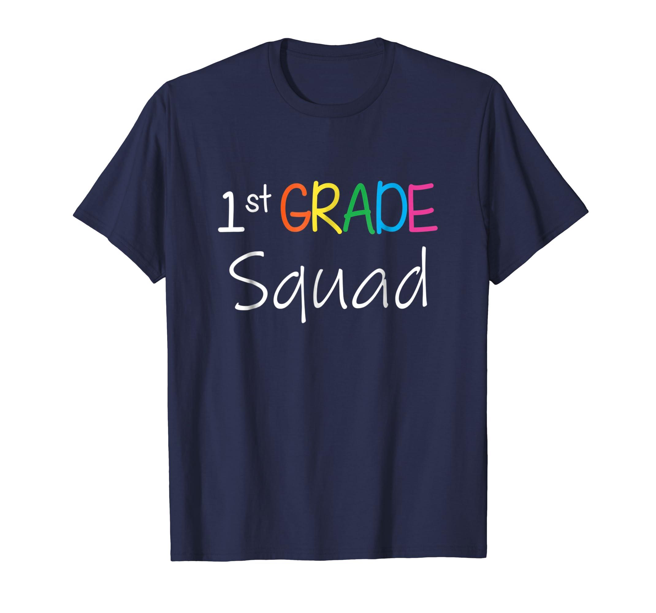 1st First Grade Squad Shirt Back To School Teacher T-Shirt