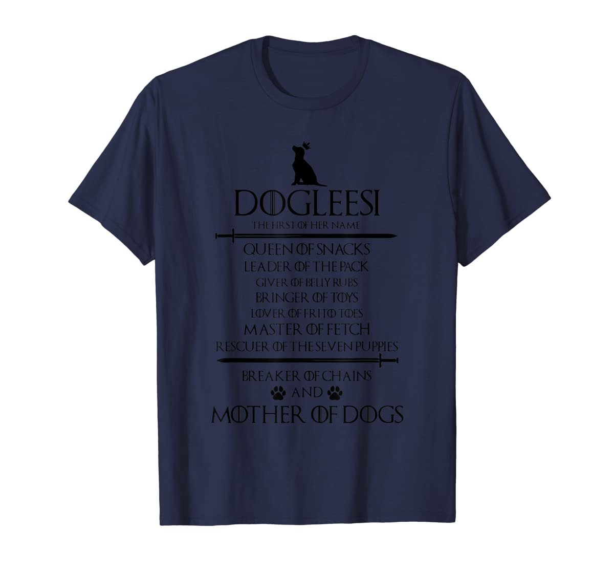 Dogleesi The Firt Of Her Name Mother Woman Gift Shirt-Men's T-Shirt-Navy