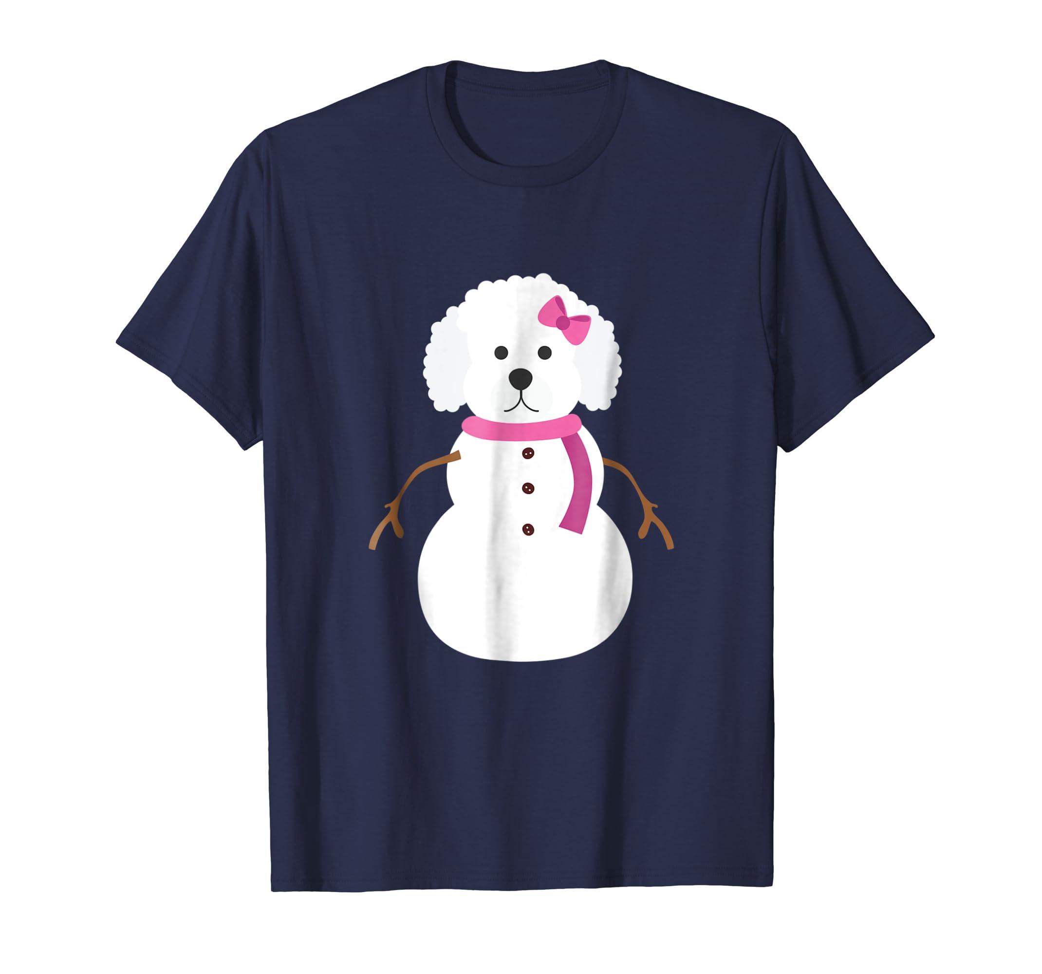 Christmas Poodle Shirt Poodle Snowman Christmas Gift Tee-azvn