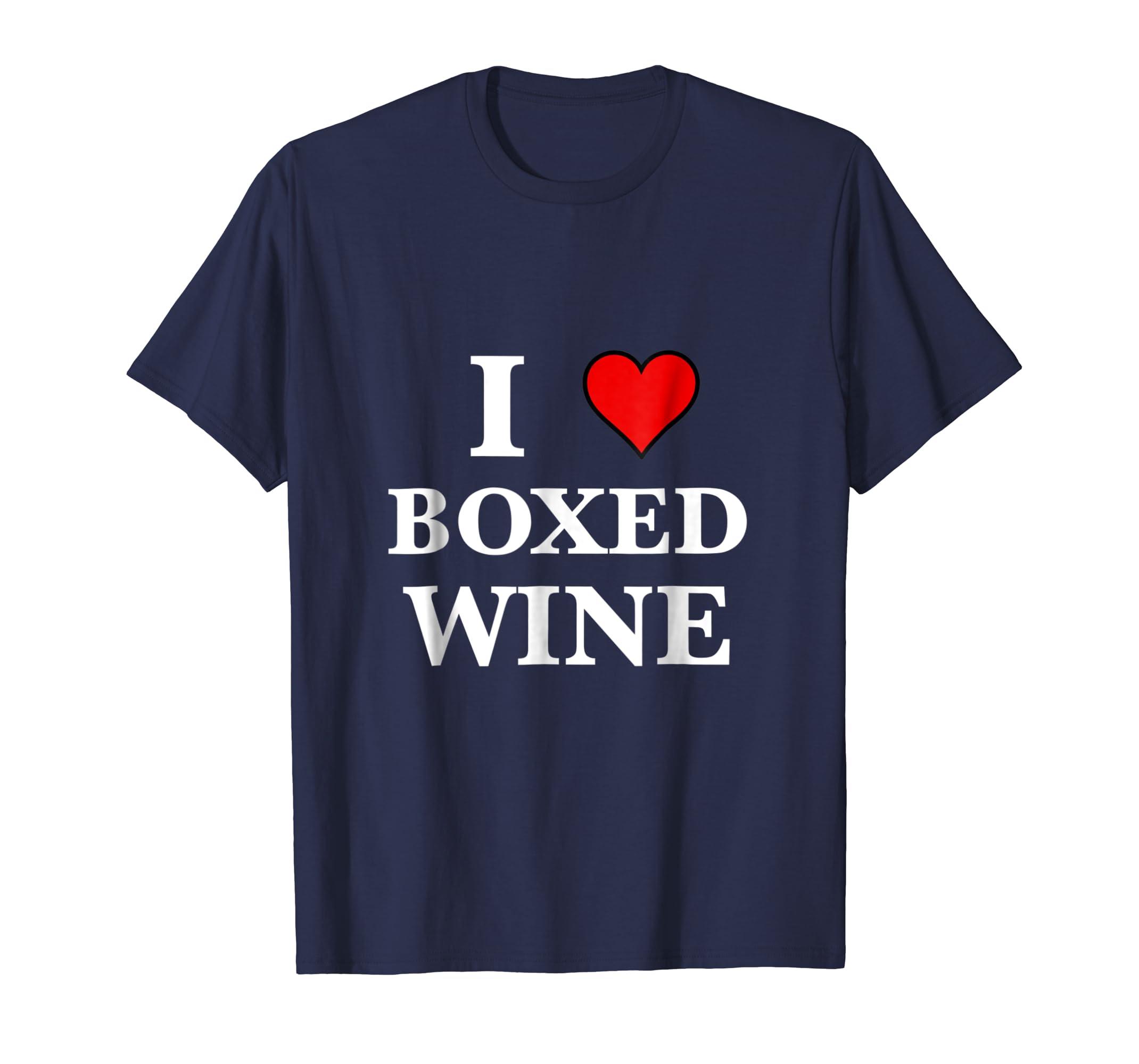 I Love Heart Boxed Wine Cheap Lover Party T Shirt Men Women-azvn