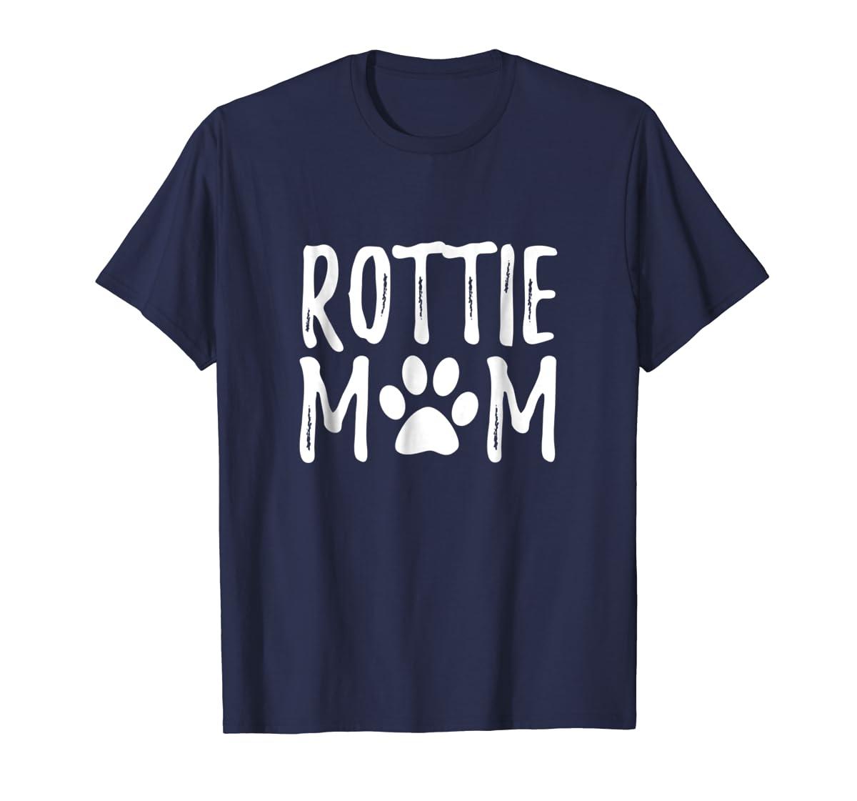 Rottie Mother Dog Owner T-Shirt I Rottweiler Love Mum Gift-Men's T-Shirt-Navy