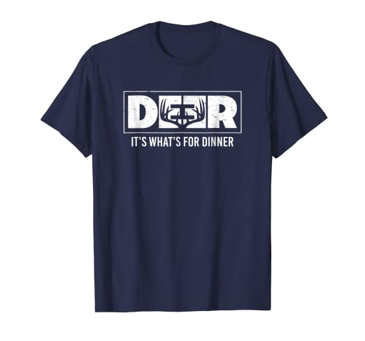 754d2689 Image Unavailable. Image not available for. Color: Funny Deer Hunting Shirt  - Whitetail for Dinner