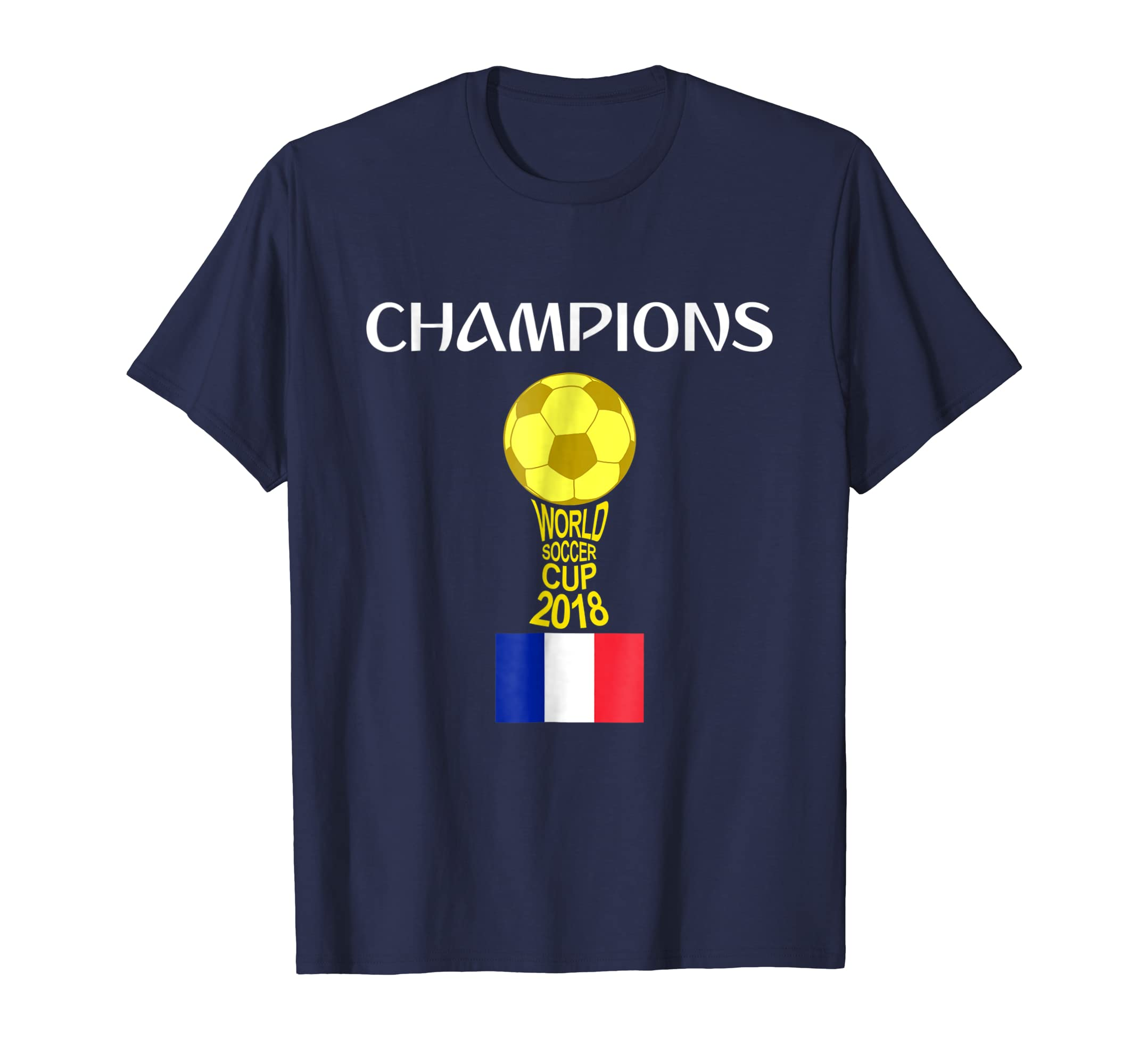 France World Champions Futball Cup 2018 T-Shirt- TPT